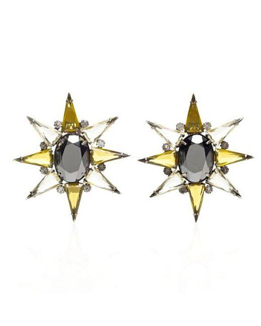 Nicole Romano | Metallic North Star Earrings | Lyst