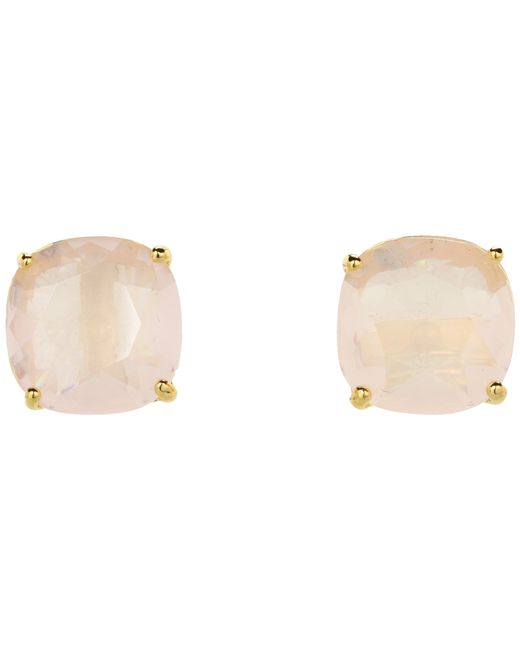 Kate Spade | Pink Small Square Studs | Lyst