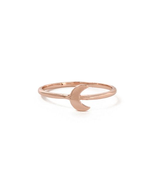 Bing Bang | Pink Little Moon Ring | Lyst
