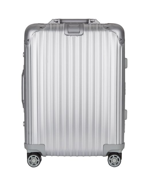 rimowa topas 22 cabin multiwheel iata suitcase in metallic for men lyst. Black Bedroom Furniture Sets. Home Design Ideas