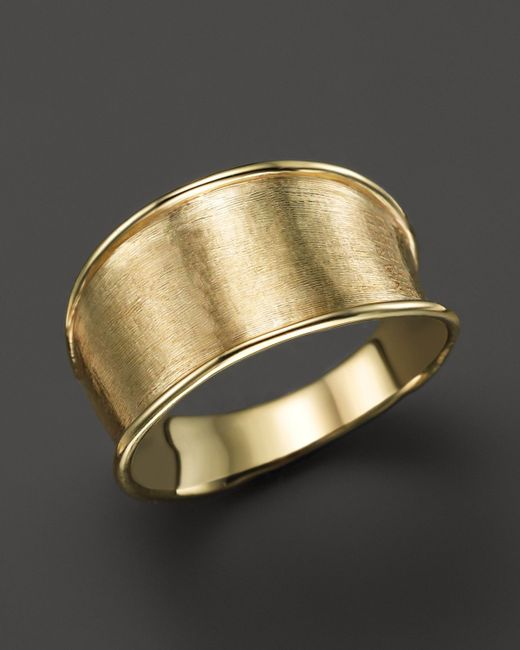 Marco Bicego   Metallic 18k Yellow Gold Engraved Lunaria Small Band Ring   Lyst