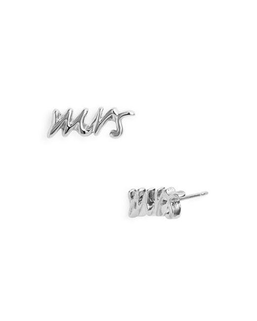Kate Spade | Metallic 'say Yes - Mrs' Stud Earrings | Lyst