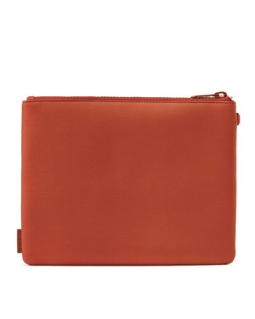 Dagne Dover Scout Pouch In Clay Red, Extra Large