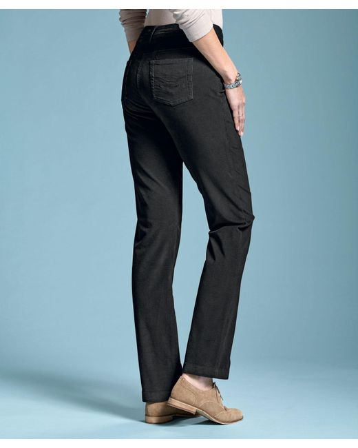 DAMART - Black Perfect Fit Cord Trousers - Lyst