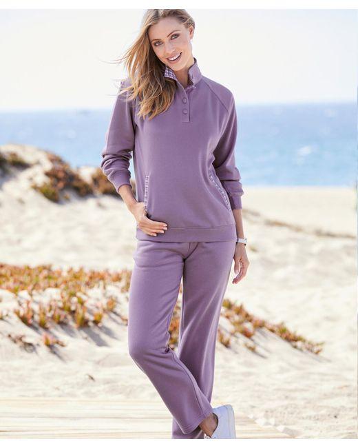 DAMART - Purple Check Trimmed Leisure Suit - Lyst
