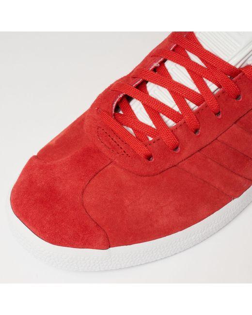 Adidas Originals Gazelle Stitch y giro en rojo para hombres Lyst