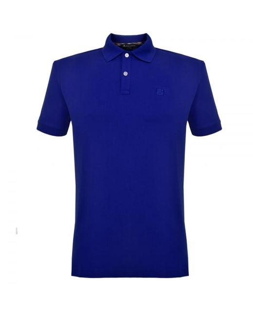 Aquascutum hill pique cobalt blue polo shirt 011559005 in for Cobalt blue polo shirt