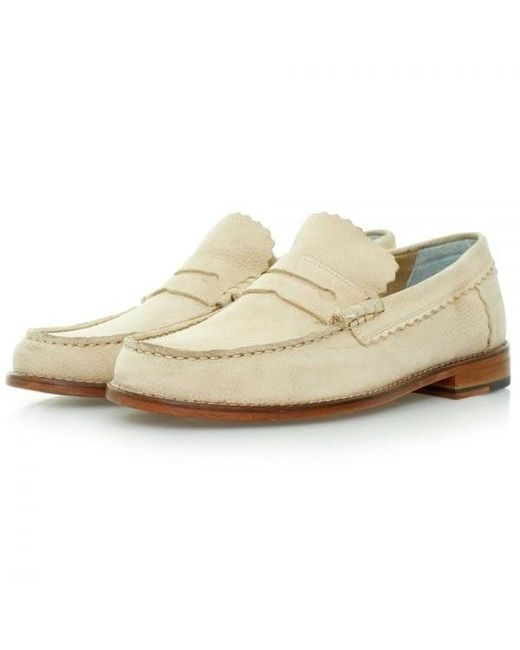 GRENSON | Natural Ashley Beige Leather Shoes 110467 for Men | Lyst