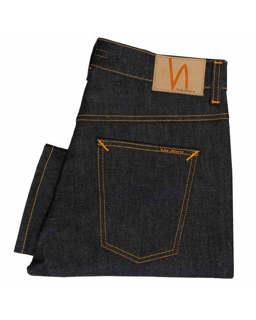 Nudie Jeans | Blue Thin Finn Skinny Organic Dry Ecru Jeans for Men | Lyst