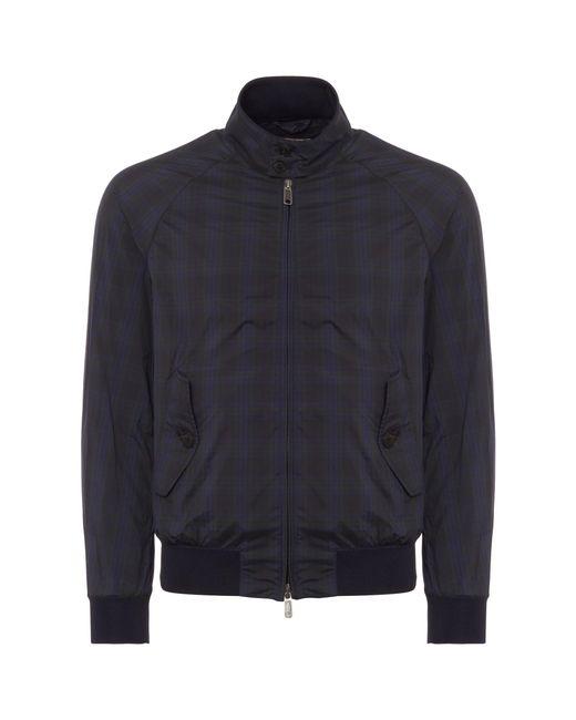 Baracuta - Blue Blackwatch G9 Light Harrington Jacket for Men - Lyst