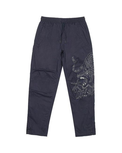Maharishi Blue Navy Stencil Tiger Pants for men