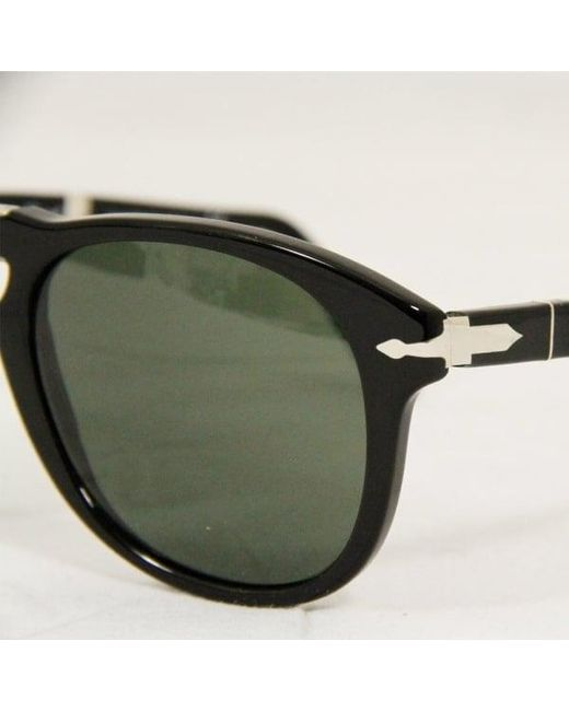 5859eb0bdf ... Persol - 714 Foldable Black Sunglasses 95 5852 - Lyst ...