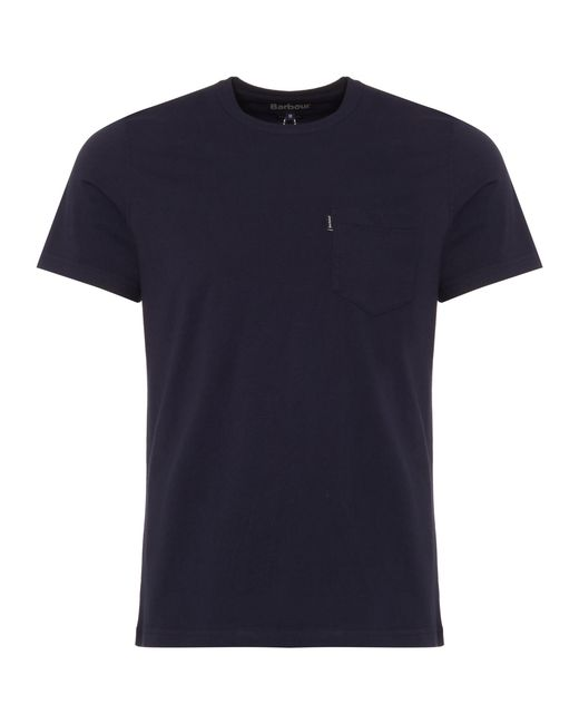 Barbour - Blue Essential Pocket T-shirt for Men - Lyst