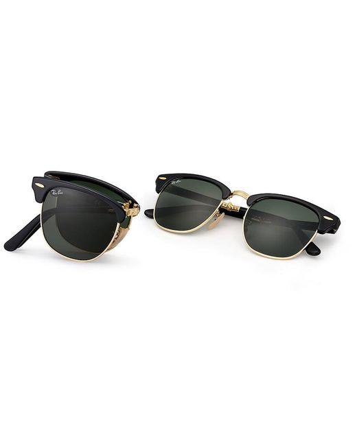 2b0b17d7e4 ... Ray-Ban - Multicolor Clubmaster Foldable Sunglasses - Classic G15  Lenses - Lyst
