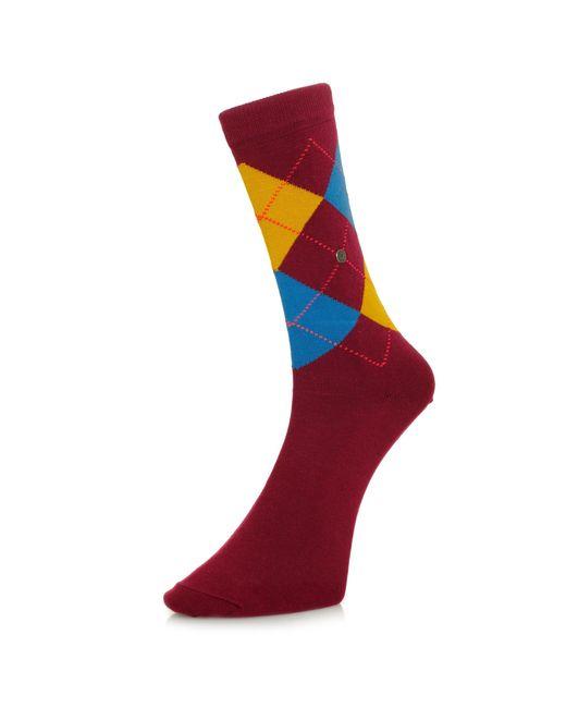 Burlington - Multicolor Burlington King Argyle Burgundy Socks 21020 8371 - Lyst
