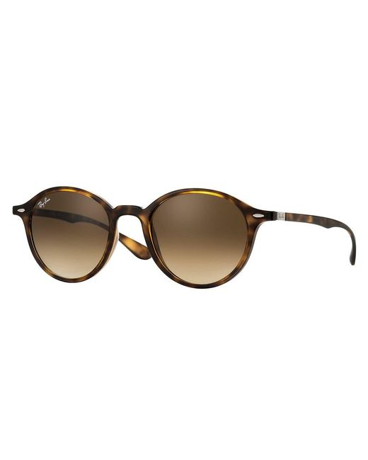 Ray-Ban - Round Liteforce Sunglasses - Brown Gradient Lenses - Lyst