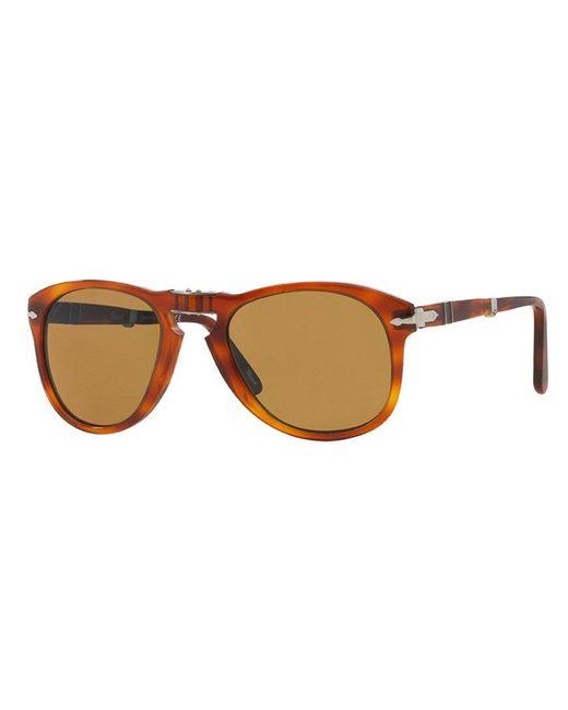 b89257136edd0 Persol 714 Foldable Brown Sunglasses 0Po0714 54 140 in Brown - Lyst