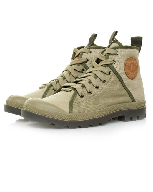 Palladium - Natural Pampa Hi Khaki Canvas Boot - Lyst