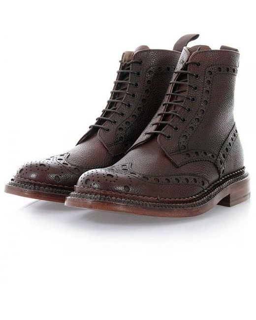 GRENSON - Fred The Triple Welt Brown Brogue Boot 5068G-425 for Men - Lyst