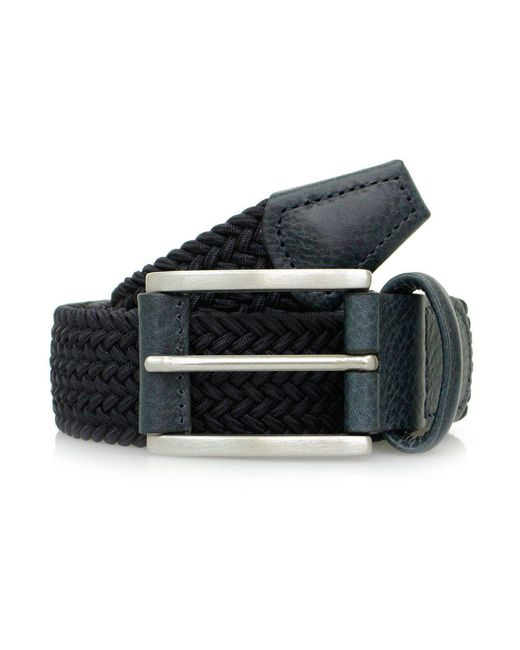 Andersons - Blue Elasticated Woven Textile Belt for Men - Lyst