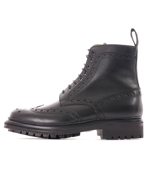 GRENSON Fred Black Brogue Boot 5068-450C for men