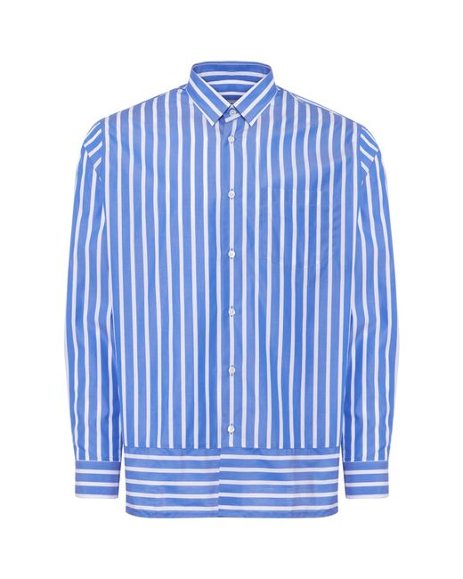 AMI - Blue Summer Fit Shirt for Men - Lyst