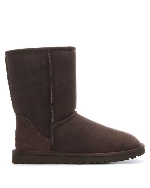Ugg | Brown Classic Short Chocolate Twinface Boot | Lyst