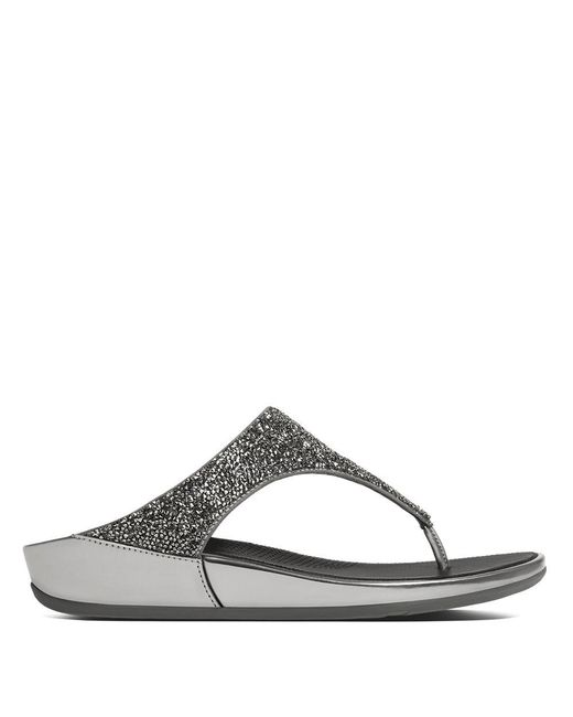 Fitflop - Multicolor Banda Roxy Pewter Toe Post Sandals - Lyst