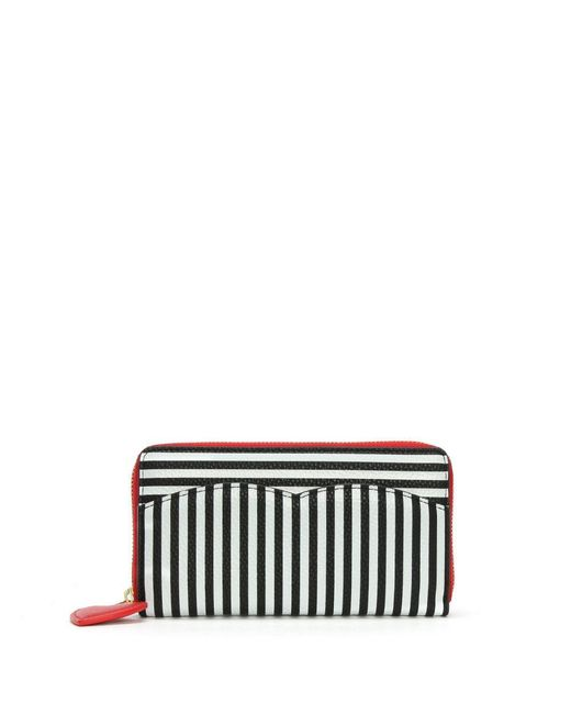 Lulu Guinness - Multicolor Cupid Bow Multicoloured Grainy Leather Continental Wallet - Lyst