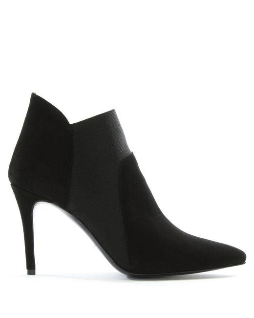 Daniel Afede Black Suede Pointed Toe Chelsea Boots
