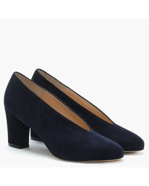 Daniel Aneso Navy Suede V Front Court Shoes in Blue Save 3
