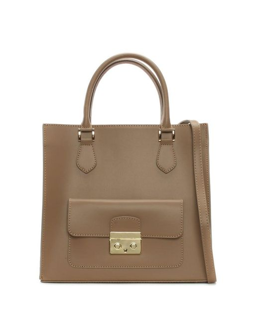 Daniel - Brown Milting Large Taupe Leather Structured Tote Bag - Lyst