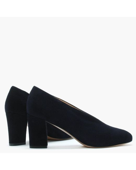 Women's Blue Aneso Navy Suede V Front Court Shoes