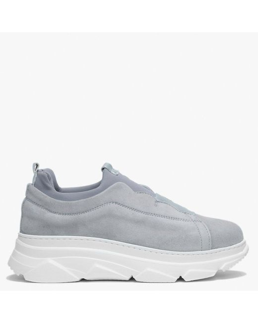 Daniel Gray Sarrie Grey Suede Slip On Chunky Trainers