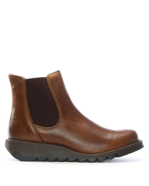 Fly London - Brown Salv Camel Women'S Chelsea Boot - Lyst
