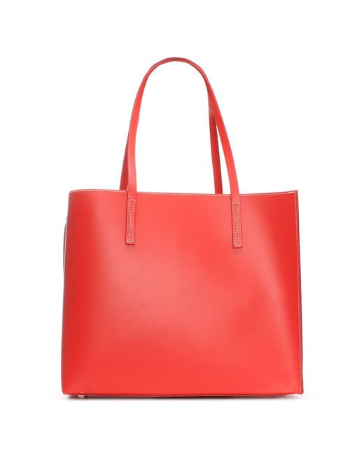 Daniel | Shore Red Leather Unlined Tote Bag | Lyst