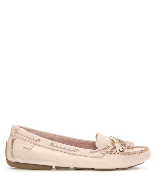 Moda In Pelle | Alivia Pink Leather Moccasin | Lyst