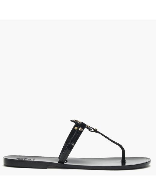 Tory Burch Black Mini Miller Flat Thong