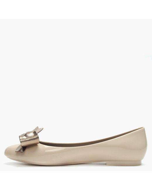 d0d30b0e5d4 ... Melissa - Natural Doll Dream Bow Latte Ballet Pumps - Lyst ...