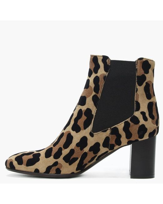 27b5e5df2e746 ... Daniel - Black Lorrainer Leopard Suede Chelsea Boots - Lyst ...