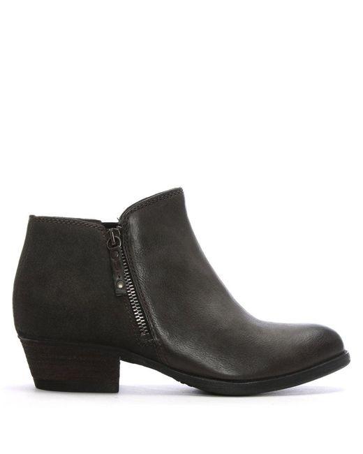 Moda In Pelle - Gray Besti Grey Leather Ankle Boots - Lyst
