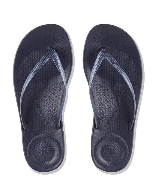 4f10d054d28e ... Fitflop - Blue Iqushion Midnight Navy Toe Post Flip Flop - Lyst ...