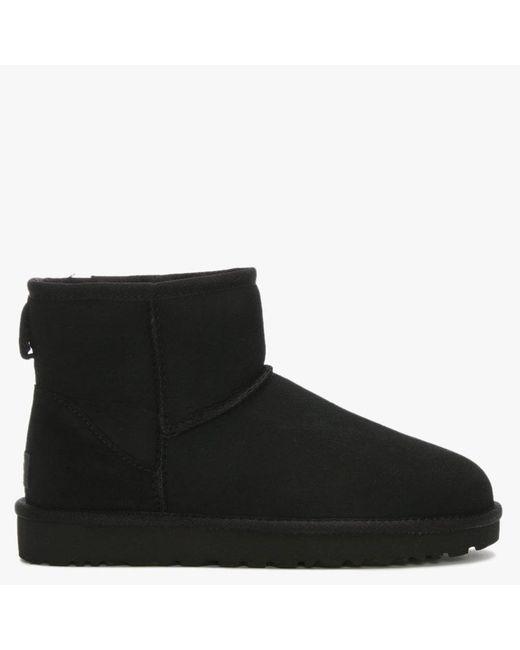 Ugg UGG Womens Black Classic Mini Ii Sheepskin Boots