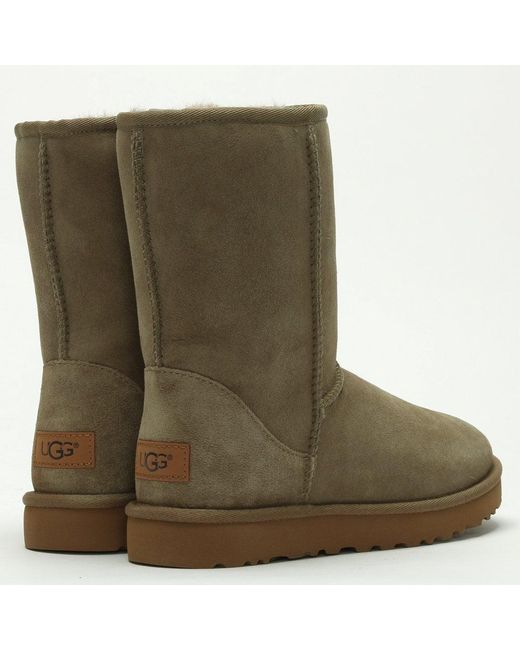 681a24bfb43 UGG Classic Short Ii Antilope Twinface Boots in Green - Lyst