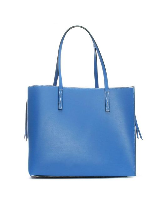 Daniel | Shore Blue Leather Unlined Tote Bag | Lyst