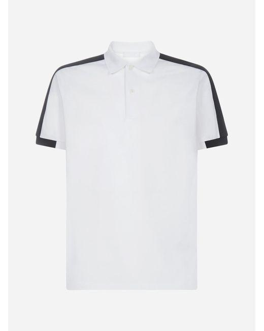 Prada White Logo Bands Cotton Polo Shirt for men