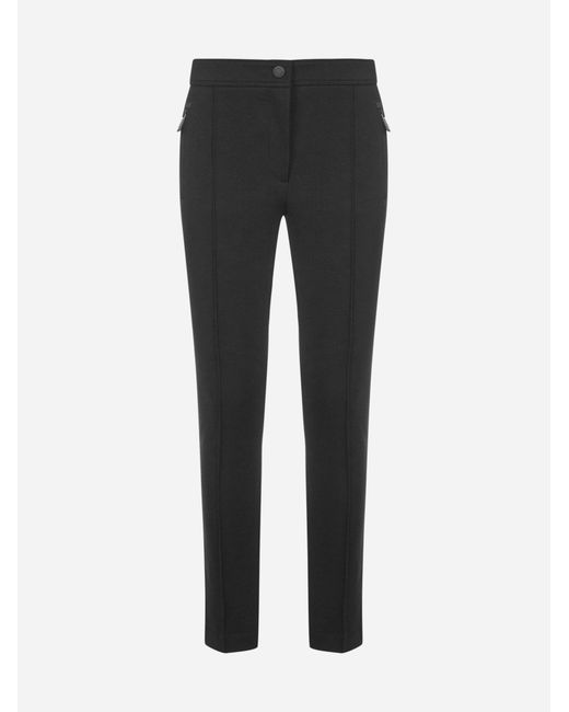 3 MONCLER GRENOBLE Black Stretch Fabric Trousers