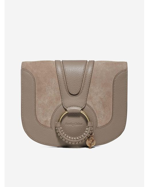 See By Chloé Multicolor Hana Medium Leather And Suede Shoulder Bag