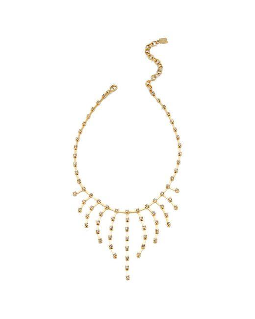 DANNIJO | Metallic Tinka Crystal Fringe Bib Necklace | Lyst