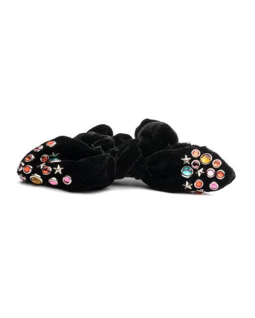 DANNIJO - Black Noir Studded Scrunchie - Lyst